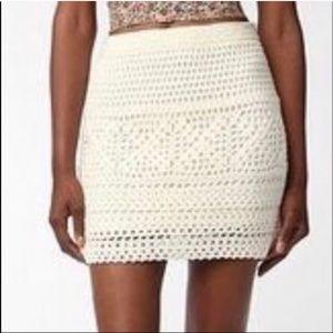 Knit crochet mini skirt